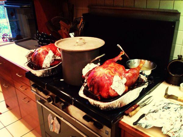Turkey yesterday for the thanksgiving celebration!?