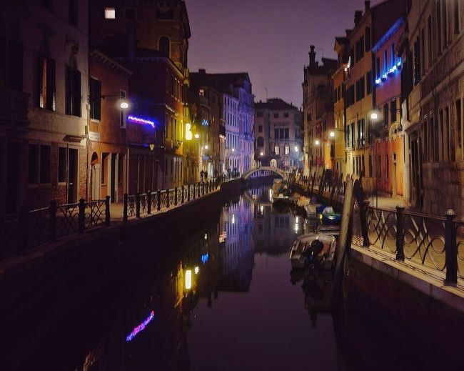 Venice ' silence Nightphotography Night Art Italy Moonlight City Illuminated Water Cityscape Reflection Flood Sky Architecture Building Exterior Built Structure Canal Grand Canal - Venice 17.62°