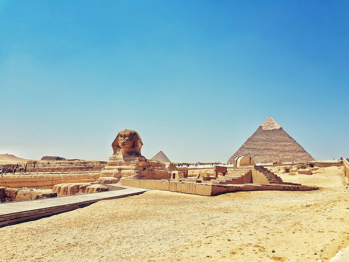 Pyramid History Travel Destinations Ancient Ancient Civilization Architecture Triangle Shape Desert Sand Monument Built Structure Travel Outdoors Old Ruin Shrine Sky No People Day Arid Climate King - Royal Person GalaxyS8+ Egypt Cairo