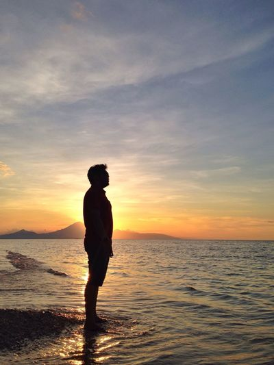 You know..one loves the sunset, when one is so sad... Relaxing Sunset Beach Taking Photos