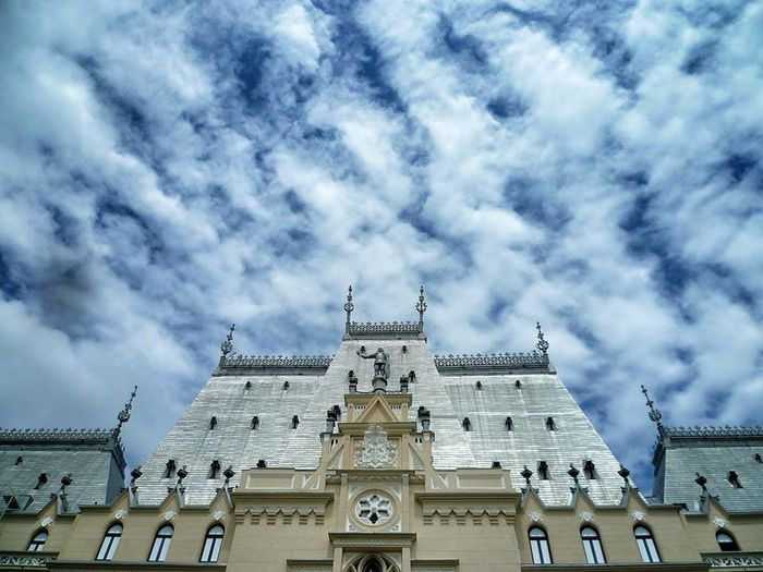 Architecture Building Exterior Church Cloud Cloud - Sky Cloudy Culture Famous Place Iasi Low Angle View Monuments No People Outdoors Palace Palace Of Culture Place Of Worship Religion Romania Sky Spirituality Symbol The Palace Of Culture January Showcase: January Januaryphotochallenge