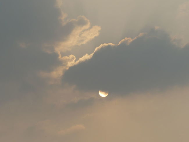 Eclipsed by Cloud Sky Sun Nature Cloud - Sky Outdoors No People Beauty In Nature Scenics Sky Only Day Space Peaceful Moment Peace And Quiet Easy Afternoon Somewhere In The World Places Around The World Beauty In Nature Freshness Breeze Of Freedom Nature