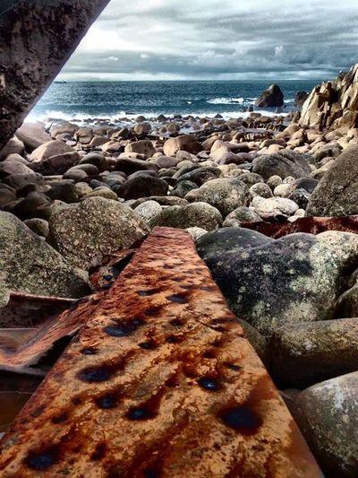 Rms Mulheim Wreck Shipwreck Metal Rust Amber Tarnished Rocks Sea And Sky Sea