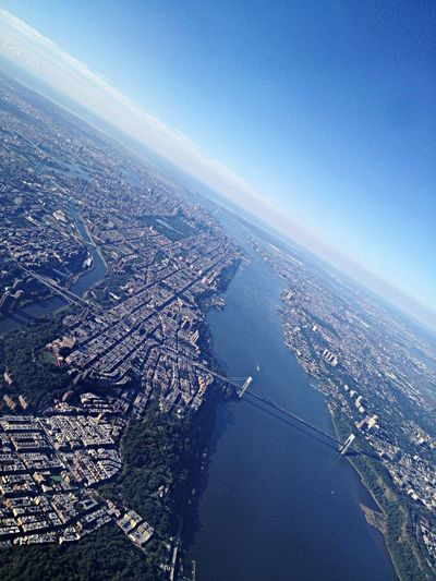 NYC... Too bad I had to leave u New York Manhattan United States Sky And City From An Airplane Window