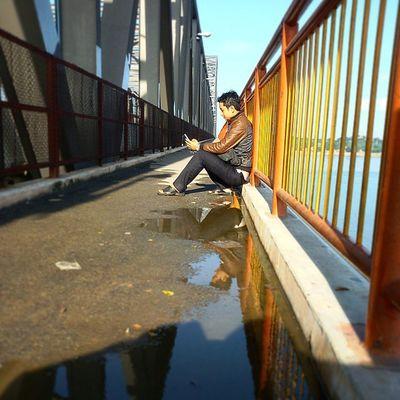 Sagaing Irrawaddy Ayeyawaddy River Bridge Yatanarpon Mandalay Myanmar Burma Igers Igersmyanmar Igersmandalay Igersburma Yatanarponbridge Sagaingbridge Sunday VSCO Vscomyanmar Morning Lonely