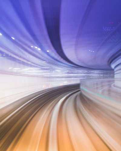 Vortex Speed Blurred Motion Motion Abstract No People Transportation Technology Road Backgrounds Outdoors Futuristic Space Cyberspace Day Tokyo,Japan Subway