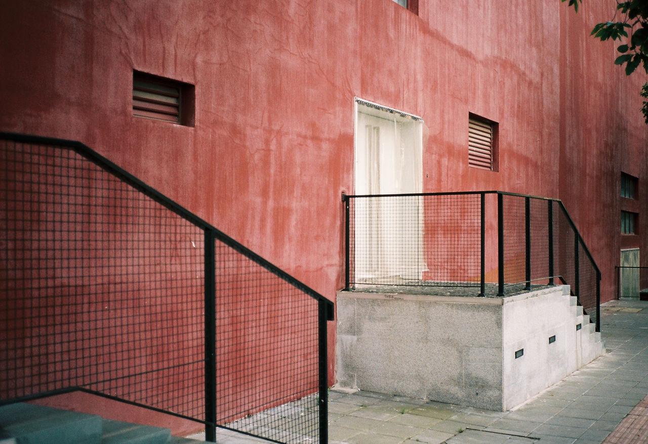 Railings of steps in building