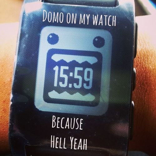 When you Pebble , you can't go back DOMO Pebblewatch