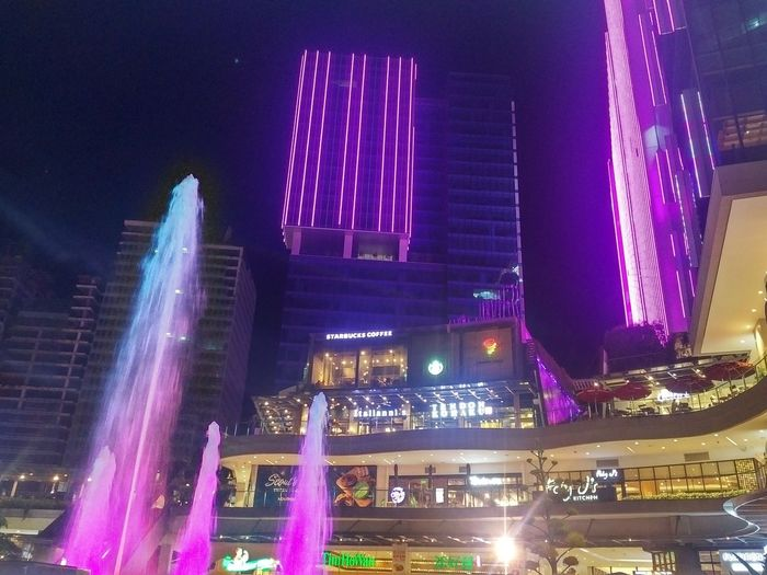 No filters, no effects. Just pure lighting. Shot using my BlackBerry PRIV City Cityscape Illuminated Urban Skyline Skyscraper Nightlife Long Exposure Multi Colored Celebration Architecture Fountain Entertainment