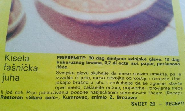 Evo jedan prigodni stari recept