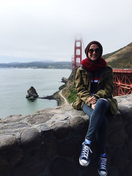 I am here GoldenGateBridge View Enjoying Life Architecture With Love Hello World That's Me Beautiful Model