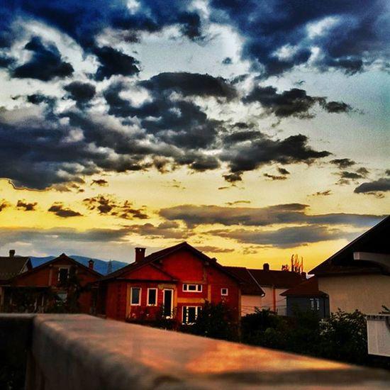 Tetova  Tetovo Macedonia Sunrise Clouds