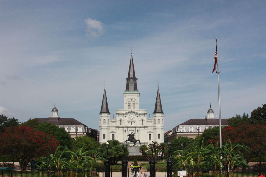 St. Louis Cathedral Architecture Building Exterior Built Structure Cloud - Sky Day History Large Group Of People Outdoors People Place Of Worship Religion Sky Spirituality Travel Destinations Tree EyeEmNewHere