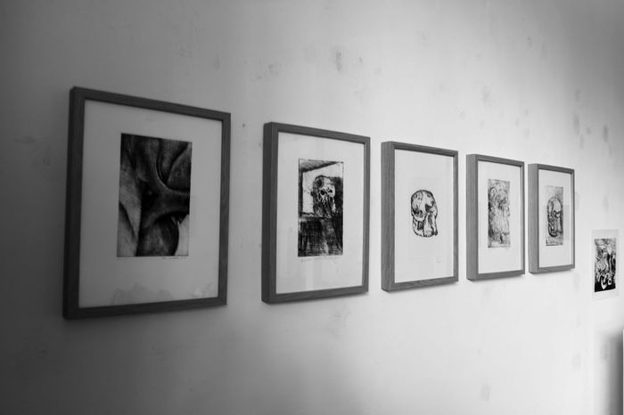 #Dark #Studio #darkness #drawings Architecture Day Indoors  No People Photograph Picture Frame