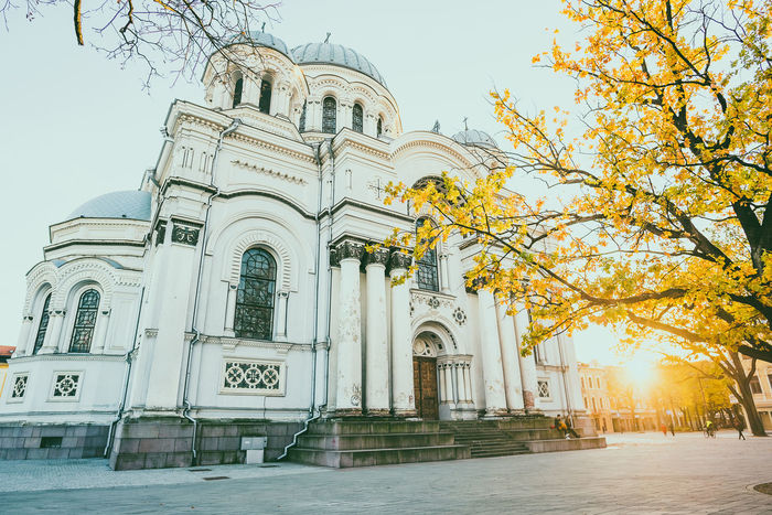 Autumn sunset Autumn Sunset Church Soboras Europe People Street Life Architecture Built Structure Belief Place Of Worship Building Exterior Religion Tree Building Spirituality Sky Nature Plant No People Arch Low Angle View Day Outdoors Nikon D750