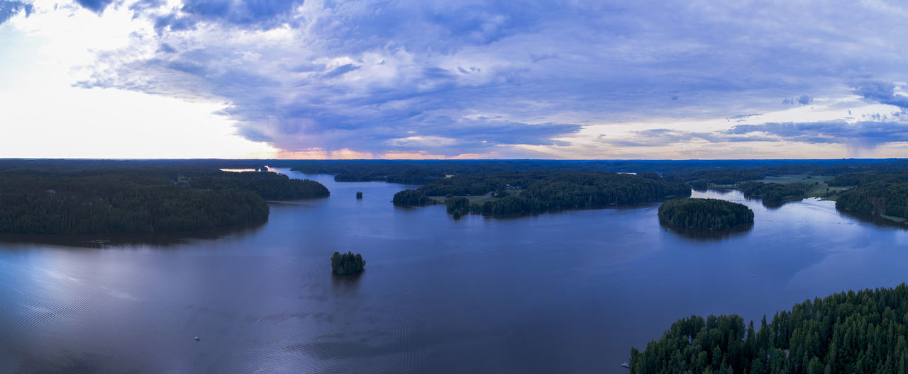 Drone  Finland Islands Nature Panorama Panoramic Aerial Aero Backround Lake Landscape No People River Sea Sea And Sky Sky Water