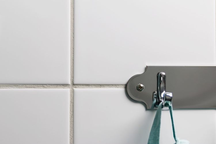 Things in my bathroom - No People Metal Close-up Towel Hanging Hook Towel Holder Simplicity Home Interior Bathroom First Eyeem Photo Hello World In Bathroom Close Up White Color Minimalism Everything In Its Place Tile Taking Photos Arrangement Hanger Exceptional Photographs EyeEm Gallery