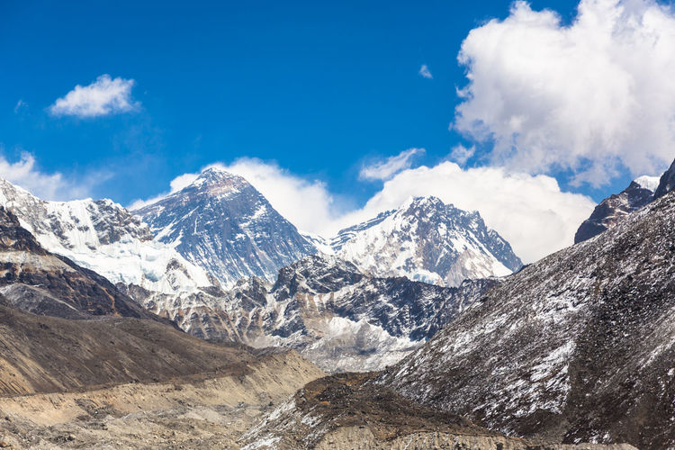 Panoramic shot of mountains against sky