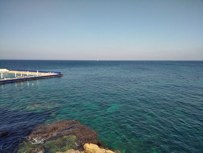 Malta Mediterranean  Mediterranean Sea Blue Clear Sky Copy Space Horizon Over Water Pool Sea Sky Sliema Water
