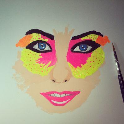 Humanimal butterfly. Drawing Watercolours Art Girls