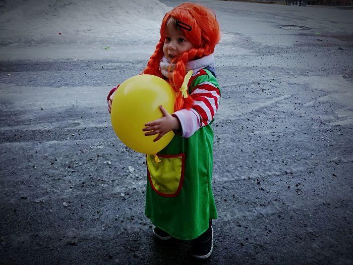Child as pipi langstrumpf on masquerade