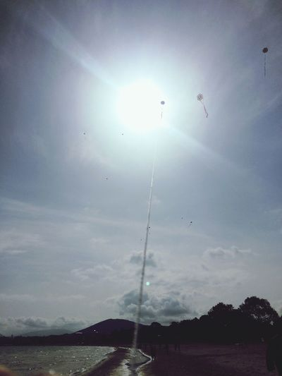 Flying Kite Sky Sun Clouds Photography