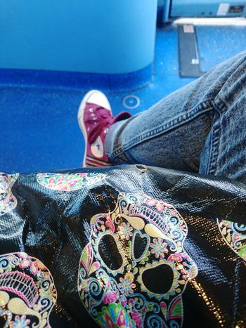 public transport Bus Public Transportation Work Travel Daily Life Converse All Star Sugarskull Human Body Part Human Leg Low Section Adults Only People