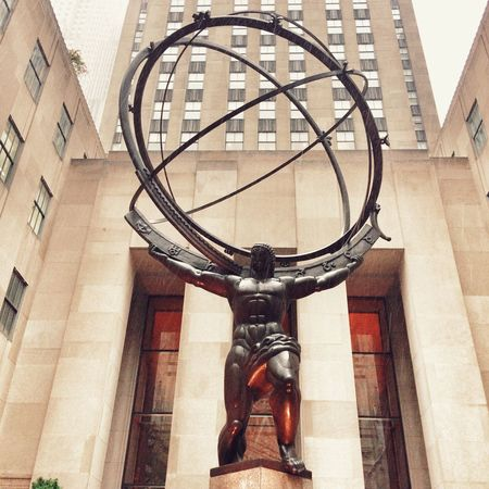 Statue of Atlas at the Rockefeller centre , New York City, United States of America. Statue Sculpture Architecture No People Day Outdoors Atlas Statue Atlas Rockerfeller Center New York City Landscape