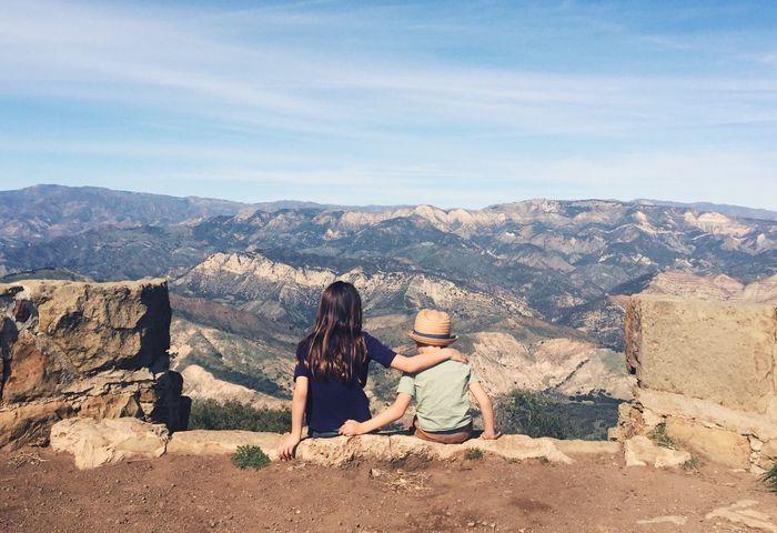 Brother & Sister Siblings Sibling Love Framed Outdoors Adventure Exploring
