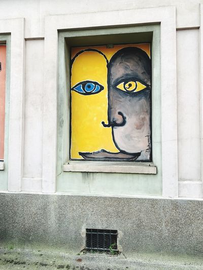 Le Havre brutalism street art 🖼 👸👑💄💎💋 Corner Street Art Le Havre France Brutalism Architecture Built Structure Window No People Building Exterior Day Wall - Building Feature Creativity Art And Craft Human Representation Representation Outdoors Building Text Wall Pattern Male Likeness Design Low Angle View Craft