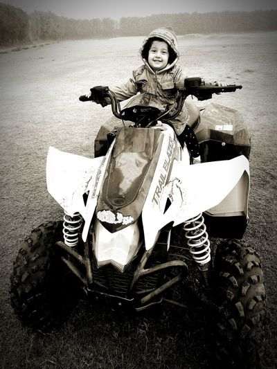 One Person Portrait Looking At Camera Transportation Day Outdoors Leisure Activity Happy Toddler Pontu Diaries Quad Biking Place Of Heart Black And White Friday