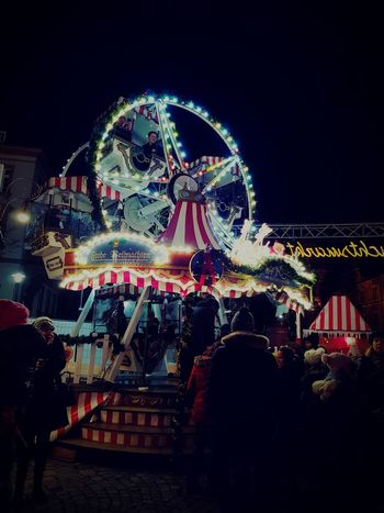 Amusement Park Fun Outdoors Cold Winter ❄⛄ Night GERMANY🇩🇪DEUTSCHERLAND@ Aschaffenburg Christmas Market Carousel Parents ❤❤❤ Children Christmas Lights Christmas Decoration Adult Winter Christmas People Arts Culture And Entertainment EyeEmNewHere
