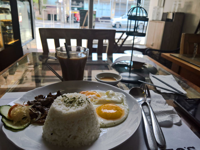 Table Food And Drink Freshness Food Breakfast Plate Serving Size Drink Ready-to-eat Healthy Eating Restaurant Drinking Glass Temptation No People Egg Yolk Day Toasted Bread Outdoors Breaky Maginhawa Artsy Photography Philippines Maginhawastreet Travel Mobilephotographyphilippines Finding New Frontiers
