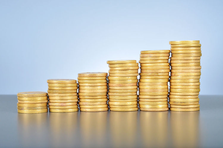 stack of gold coins ascending Ascending Banking Buy Cash Coins Cost Currency Descending Economy Expenses Finances Financial Forex Fund Golden Goods Hike Investment Money Payment Price Purchase Savings Stack Stock