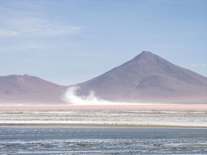 Beauty In Nature Blue Sky Bolivia Day Landscape Mountain Mountain Range Nature No People Outdoors Pastel Pastel Colors Scenics Sky Tranquil Scene Tranquility Uyuni Water