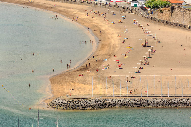 Scenic view of beach in city