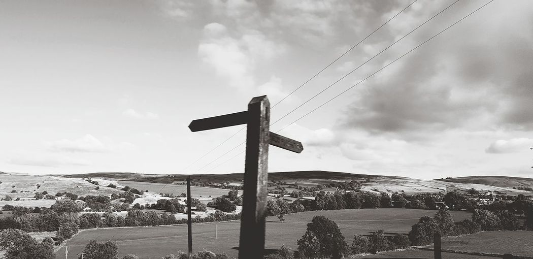 signposts Direction Way Oath Route Black And White EyeEm Selects Decisions Uk Skipton Road Sign Stoplight Oil Pump Sky Cloud - Sky Wooden Post Road Signal EyeEmNewHere