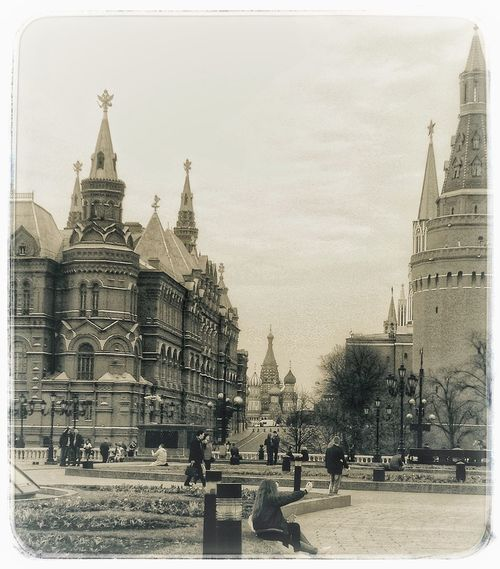 Through ages Kremlin Architecture Russia Russia Moscow Tree Religion History Belief The Past Travel Destinations Outdoors Textured Effect Place Of Worship City Adventures In The City
