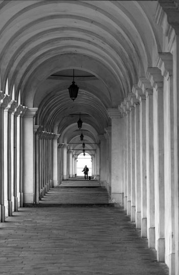 Arch Architectural Column Indoors  Architecture In A Row The Way Forward Corridor