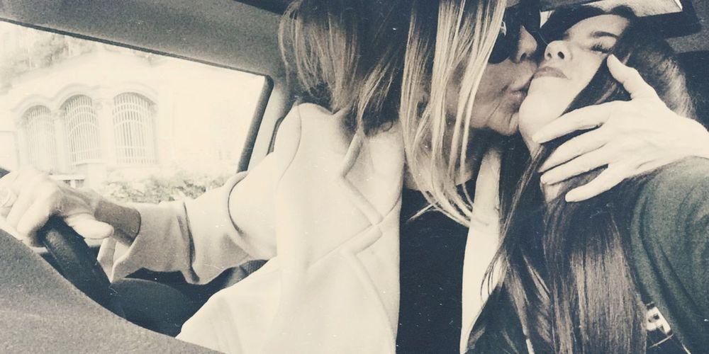 Kiss Mom True Love Enjoying Life