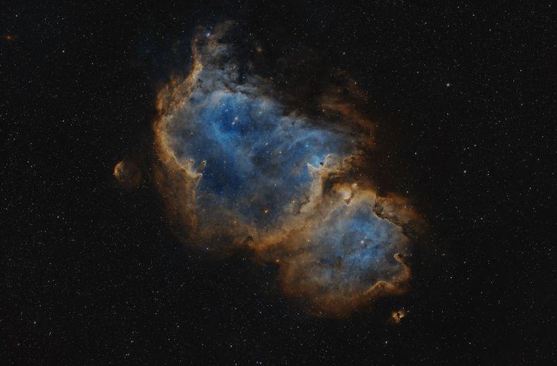 Ic1848 soul nebula, seelennebel, von meinem schwiegersohn aufgenommen. sky at night