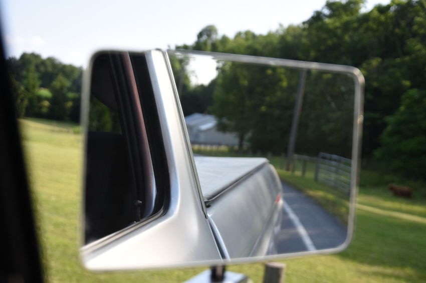 Dentside. Ford Truck Pickup Pickup Truck Feel The Journey Meinautomoment Rearview Mirror Reflection Vehicle Antique Antique Car Original Experiences Original Photography Unedited Bokeh Photography Bokeh Road Photography Rural Scene Rural Vehicles Vehicle Photography Mirror