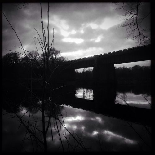 Bridge in silhouette Blackandwhite
