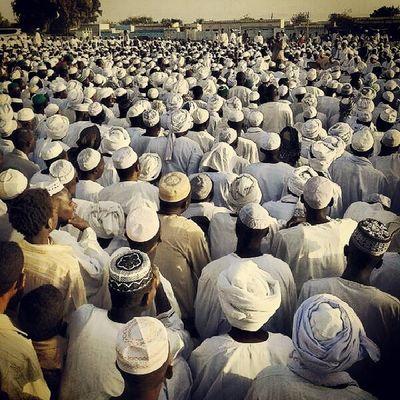 حشود ضخمة اليوم بمدينة كوستي في استقبال مرشد الطريقة التجانية