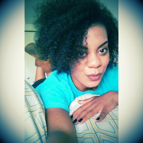 Finally home, relaxin'. Curly Hair Chill Mode Relaxing Mixed Chick