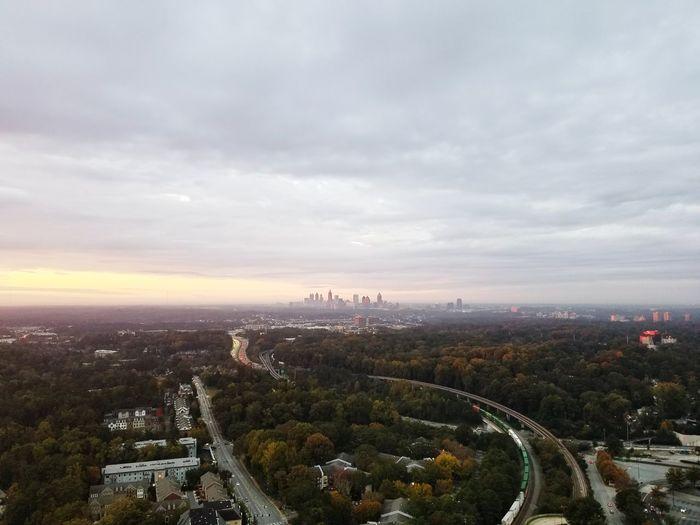 Atlanta before storm