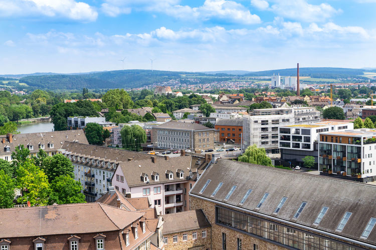 View of the city of Kassel in Germany from above Germany Kassel Top View Landscape City Panorama Architecture Tourism Travel Panoramic Buildings Landmark Cityscape Town Above Unesco Outdoor House Forest Scenic Park Church Monument River Sky Blue Summer Clouds Nature Urban Hesse Hessen Skyline Documenty Europe Karlsaue Trees Built Structure Building Exterior Building Cloud - Sky High Angle View Tree Roof No People Day Plant Outdoors TOWNSCAPE