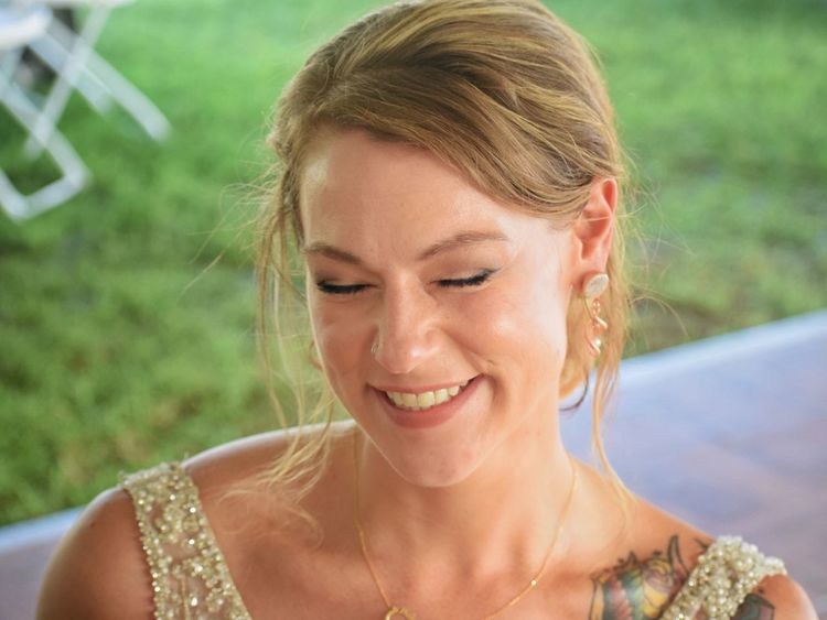 EyeEm Selects Smiling Outdoors Grass Happiness Young Adult Beauty Beautiful Woman One Person Day Young Women Close-up Nature Wedding Bride Wedding Reception Outdoor Wedding