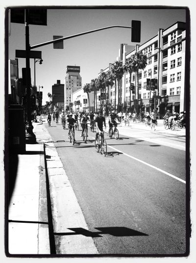 CicLAvia Wilshire Boulevard* Los Angeles Carfreeday bicyclists