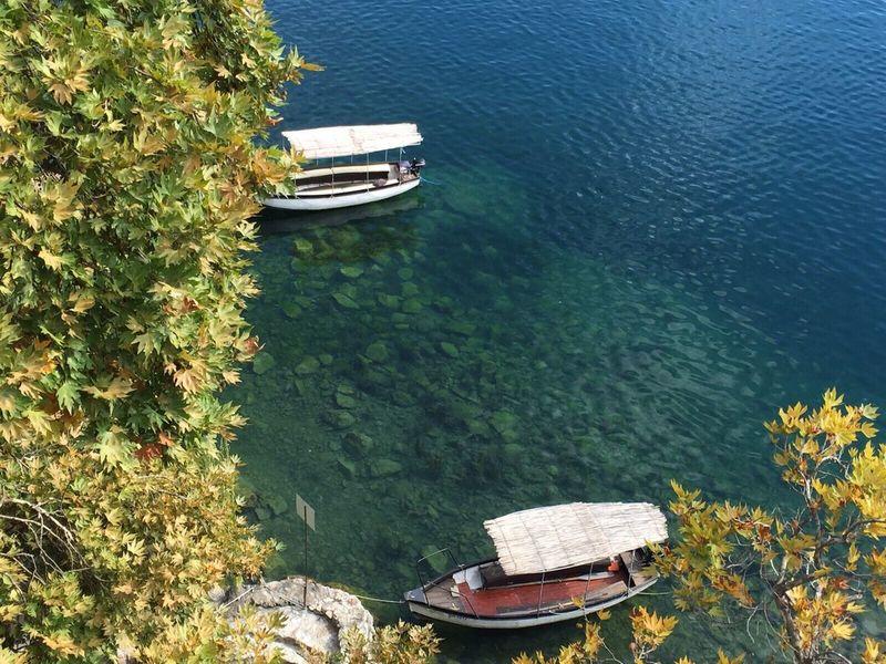Ohrid lake Macedonia.Watereaf] Waterfront Macedonia High Angle View Ohrid Ohrid Lake Nature Lake Tranquility Beauty In Nature Outdoors Lake View Lakeside Peace